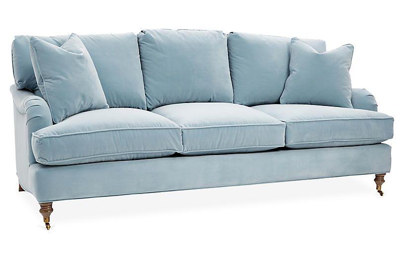 Brooke Sofa Light Blue Crypton Sofas Sofas Amp Settees