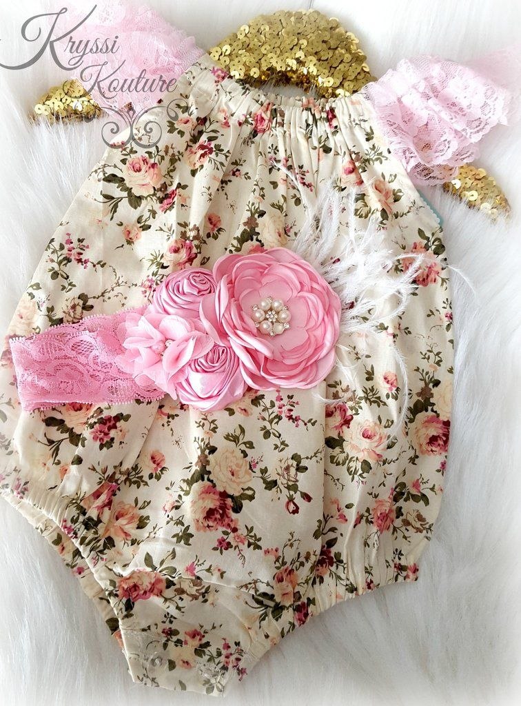 This adorable off the shoulder romper, is as sweet as can