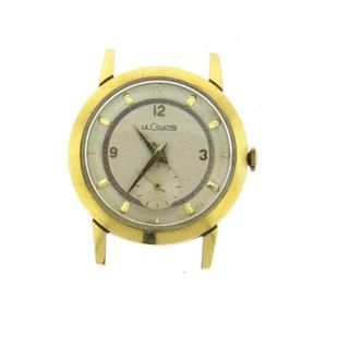 LeCoultre 14k Gold Manual Wind Watch Featured in our upcoming auction on June 14!
