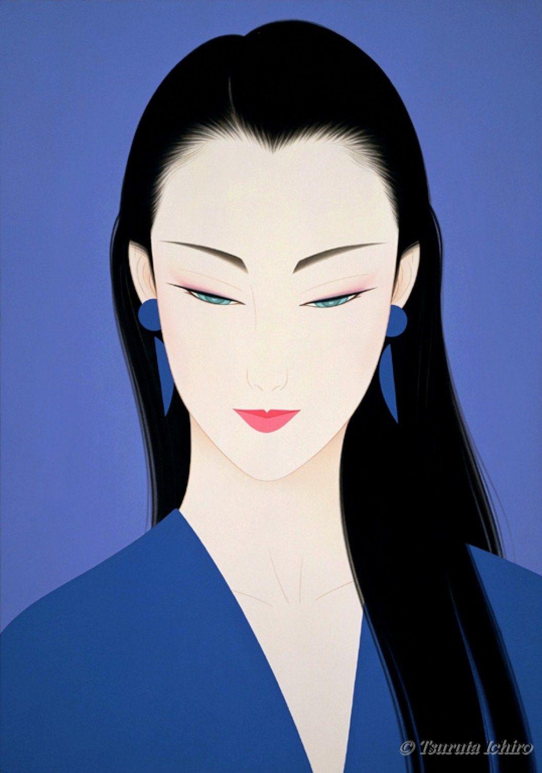 Tsuruta ichiro illustration illustrazioni japan art for Sei bella e non per quel filo di trucco