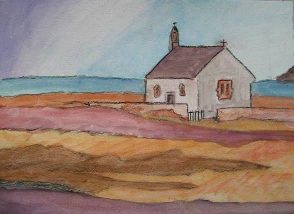 Petite Maison Bord De Mer A L Aquarelle Dessin Peinture Bord
