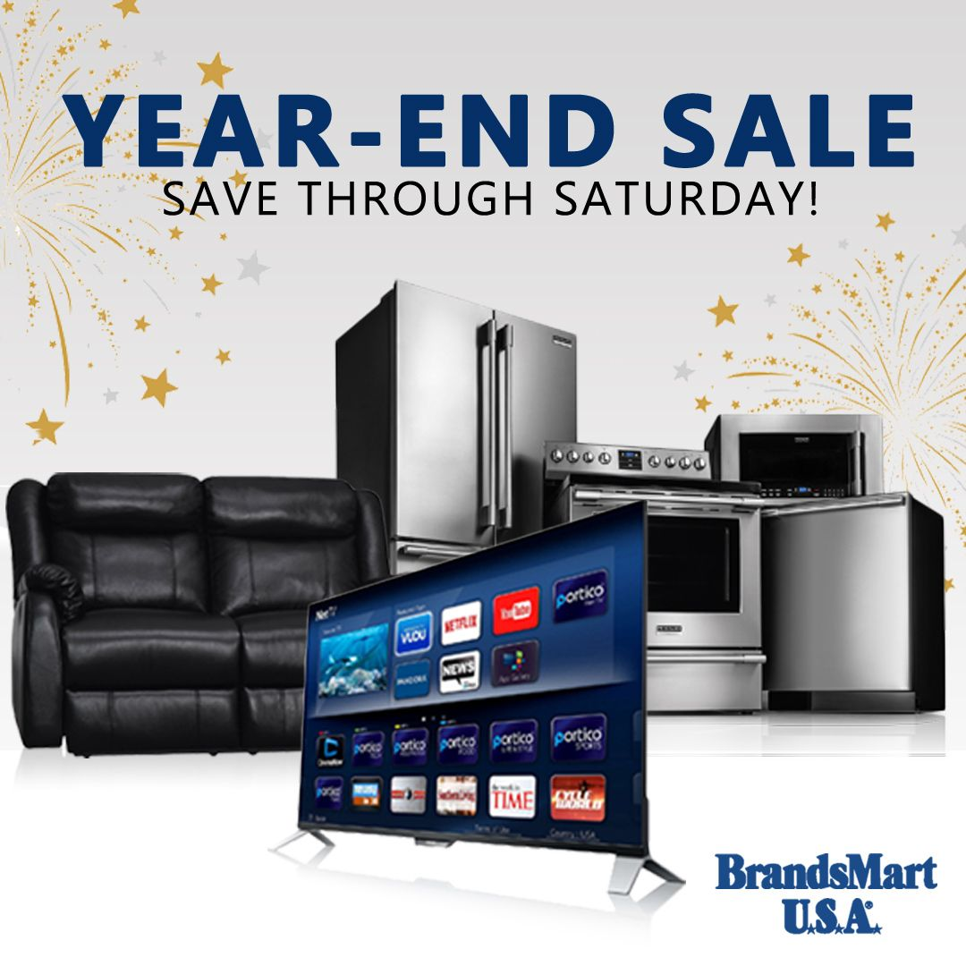 Year End Sale Save Through Saturday New Years Eve Nye Sale Televisions Tv Appliances Furniture Electronics Home Appliances Home Tv Smart Home
