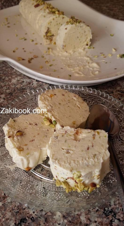 بوظة عربية بالمستكة و الفستق الحلبي سهلة وسريعة زاكي Desserts Dessert Ingredients Arabic Dessert