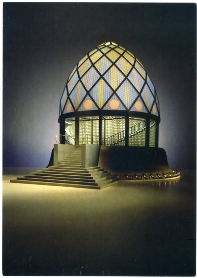 bruno taut glass pavilion for the 1914 werkbund exhibition in cologne