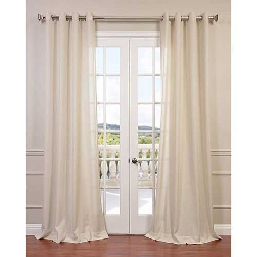 Sand Ivory 108 x 50-Inch Grommet Curtain Single Panel