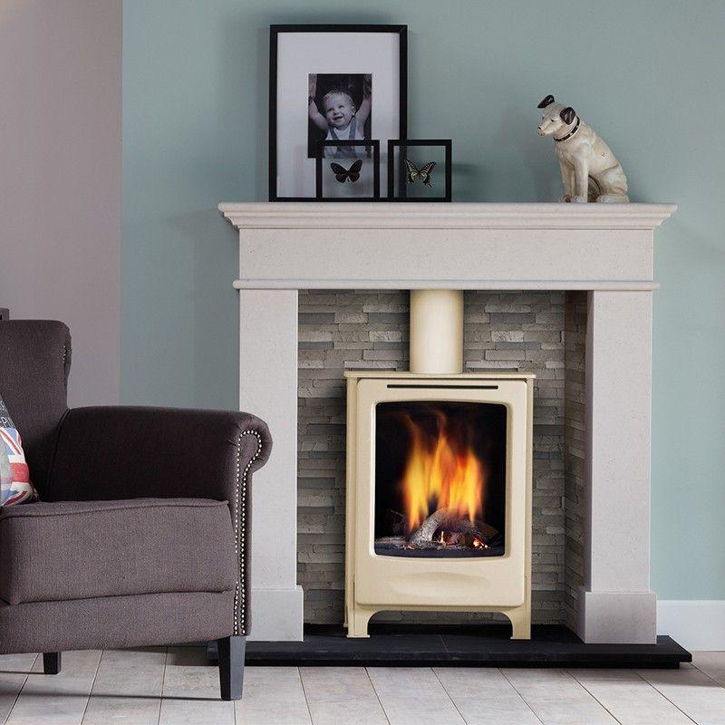po le gaz dru beau ivoire glass 3 30 kw po les. Black Bedroom Furniture Sets. Home Design Ideas