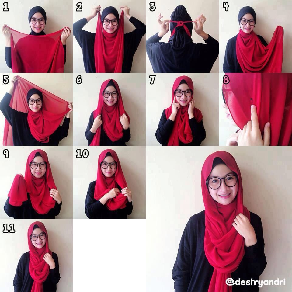 casual loose hijab tutorial suitable for hijabis with specs