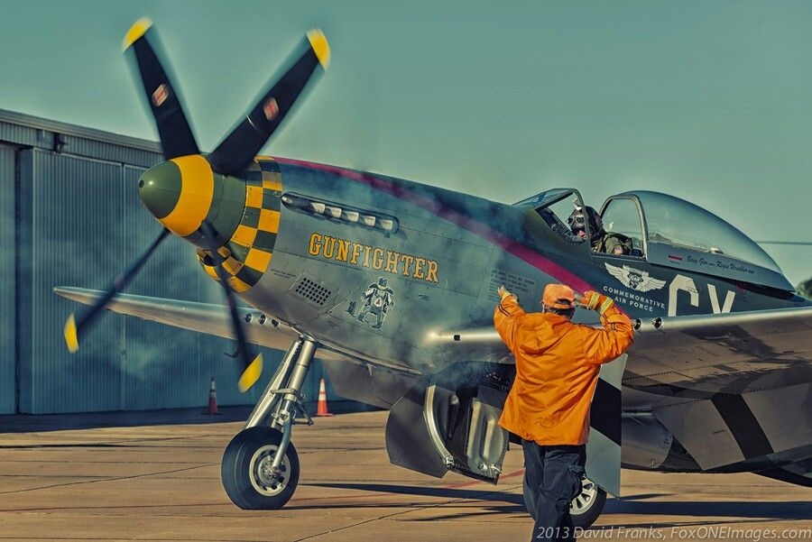 P-51 taxiing