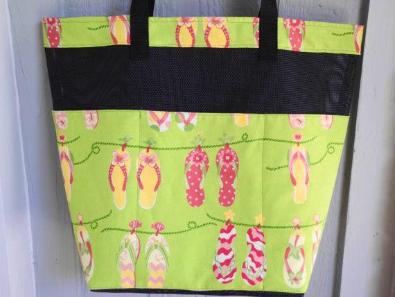 Pet Screen Flip Flop Beach Bag by designsbysusan1 on Etsy, $34.99