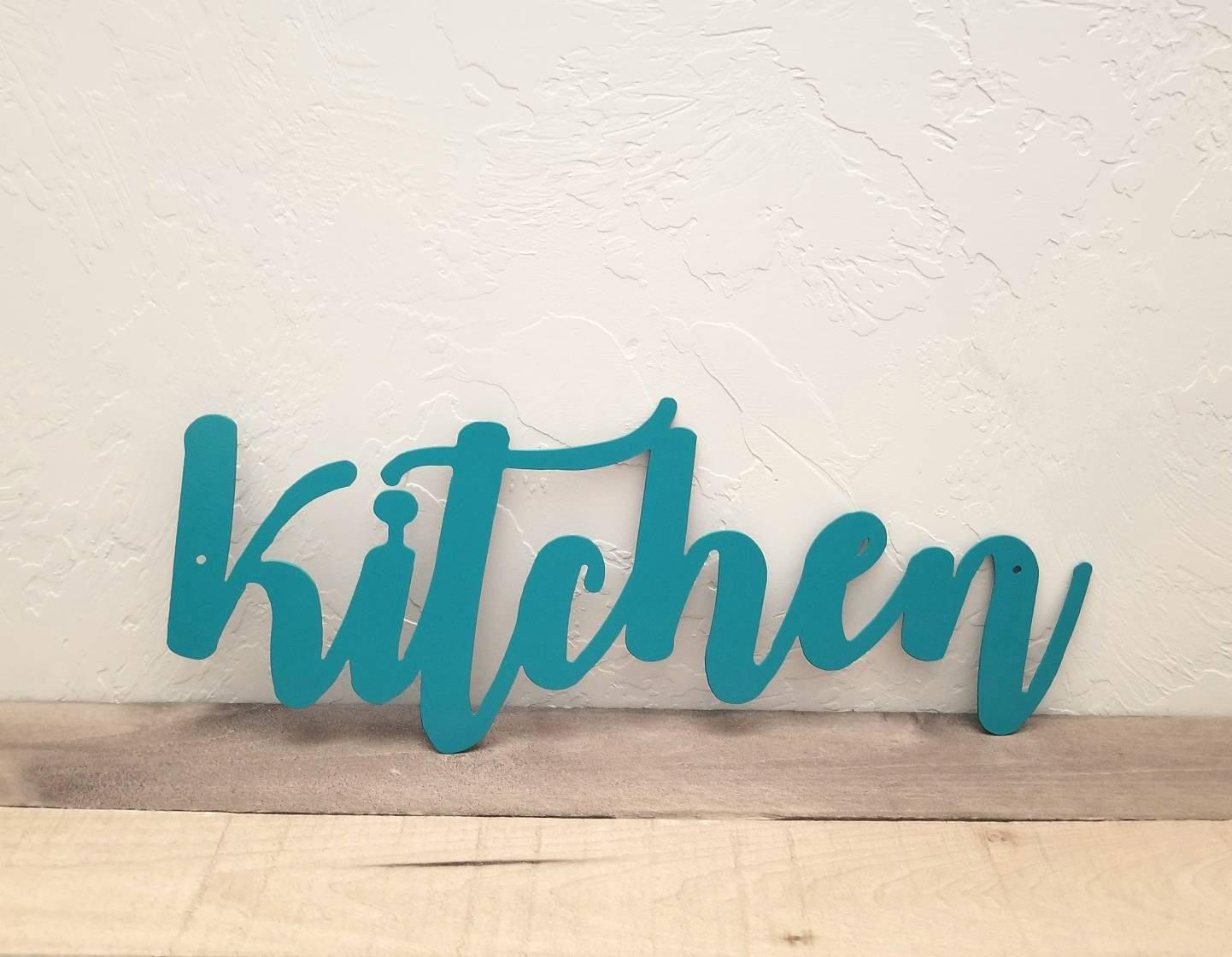 Kitchen Word Cutout, Metal Kitchen Sign, Kitchen Decor Signs, Metal ...