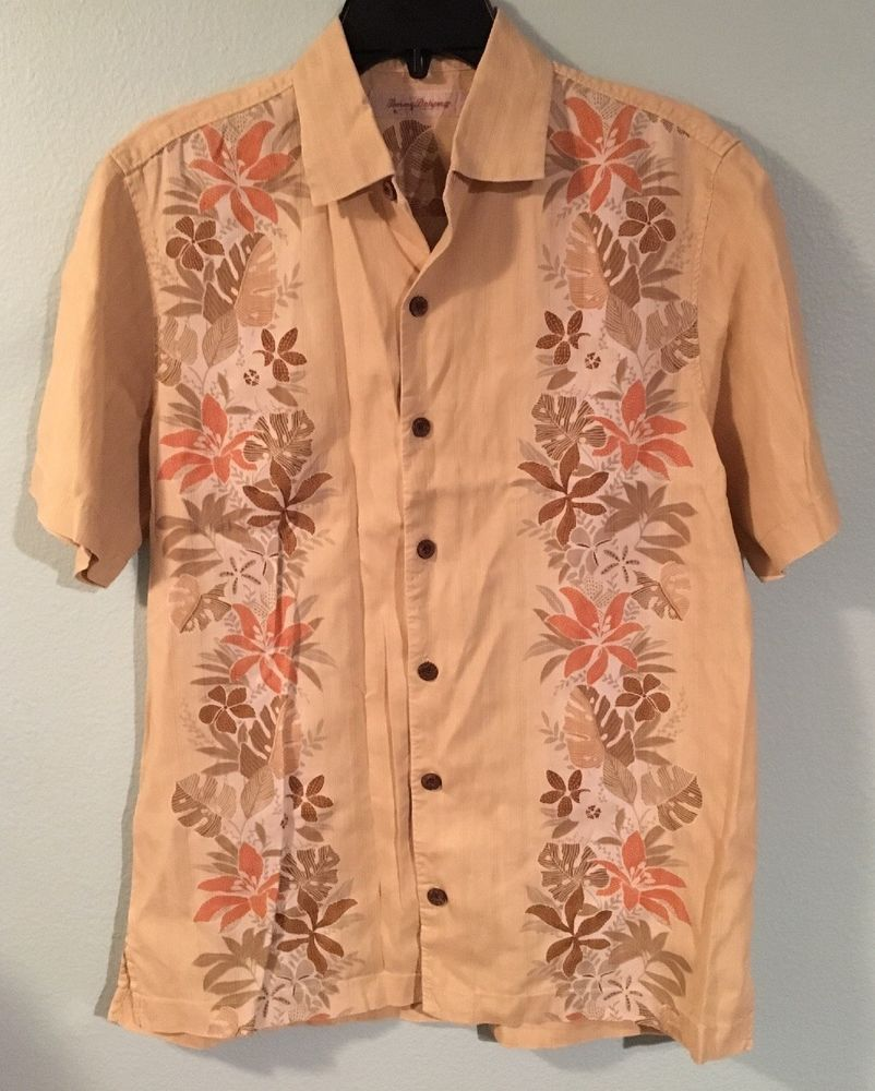 89a39d6d35 Tommy Bahama Mens Sz S 100% Silk Tropical Button Down Camp Shirt Island  Style  fashion  clothing  shoes  accessories  mensclothing  shirts (ebay  link)