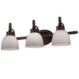 Bathroom Vanity Lighting Oil Rubbed Bronze portfolio 3-light oil-rubbed bronze bathroom vanity light item
