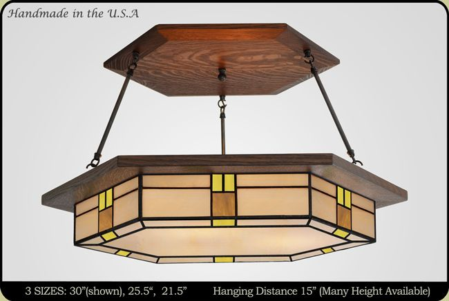 Made In The Usa Large Craftsman Style Dining Room Light Fixture Amazing Stained Glass Light Fixtures Dining Room Design Inspiration