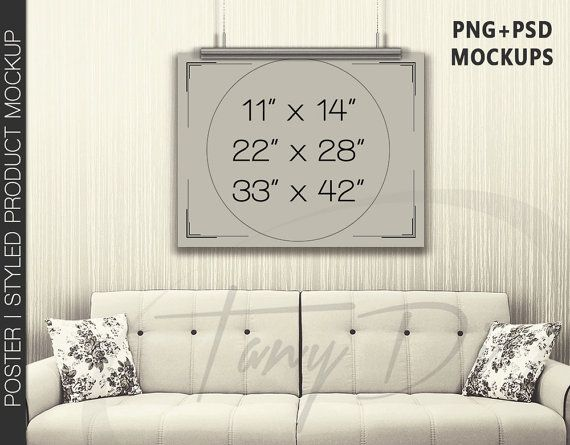 11x17 Poster On Wall Photoshop Print Mockup Vertical Etsy Poster Mockup Overlay Textures Hanging Poster