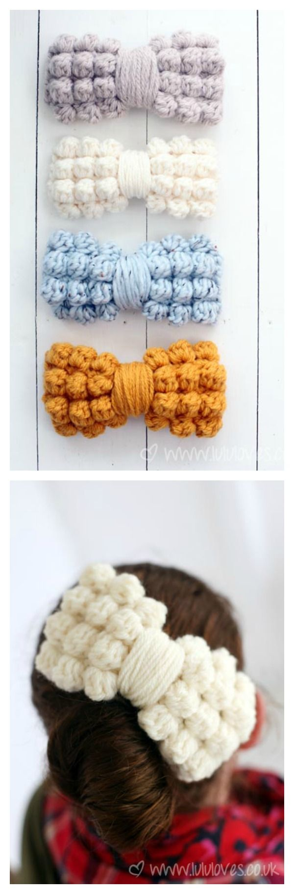 Hair Clip Free Crochet Patterns | Flor, Me gustas y Coser
