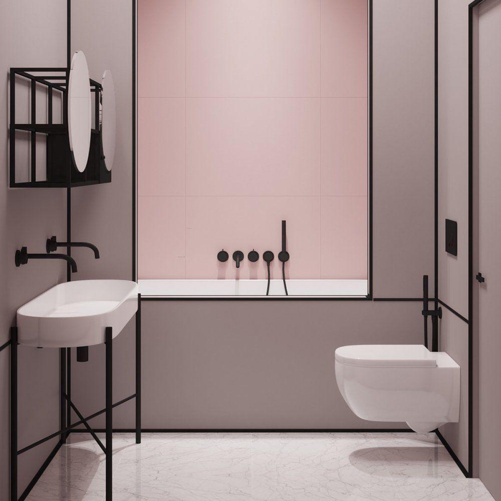 اجمل 6 ديكورات حمامات مودرن باللون الأسود الساحر Bathroom Trends Small Bathroom Trends Bathroom Design Trends
