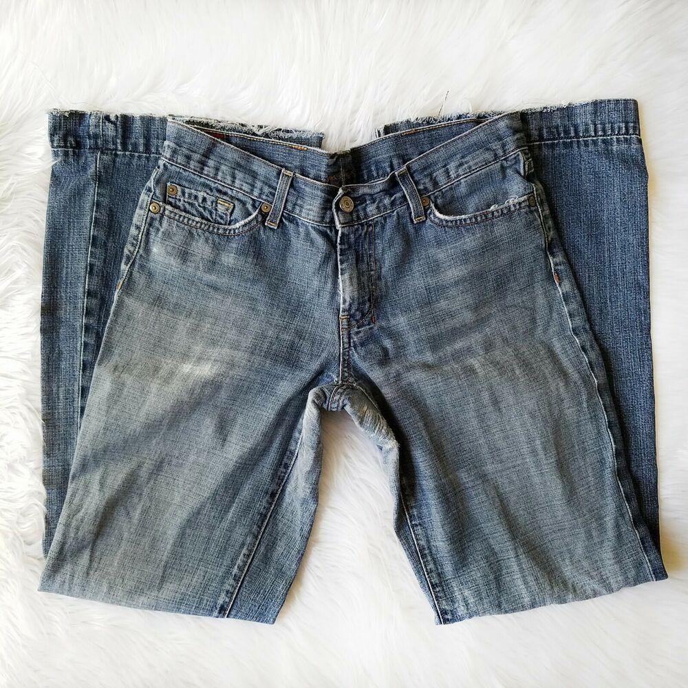 7 for all mankind dojo jeans size 31 flare wide leg