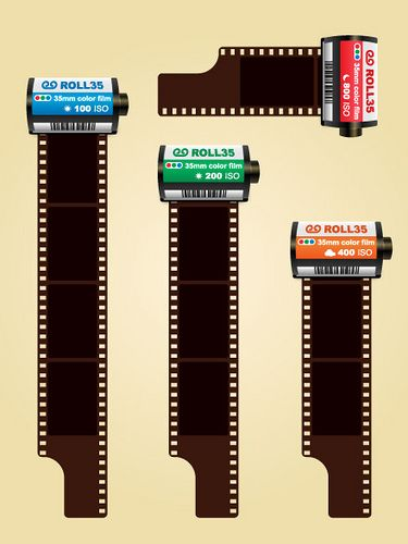 35mm colored photo film cartridges free vector   vector says