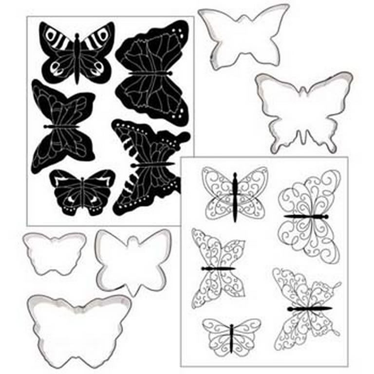 Butterfly template for royal icing.