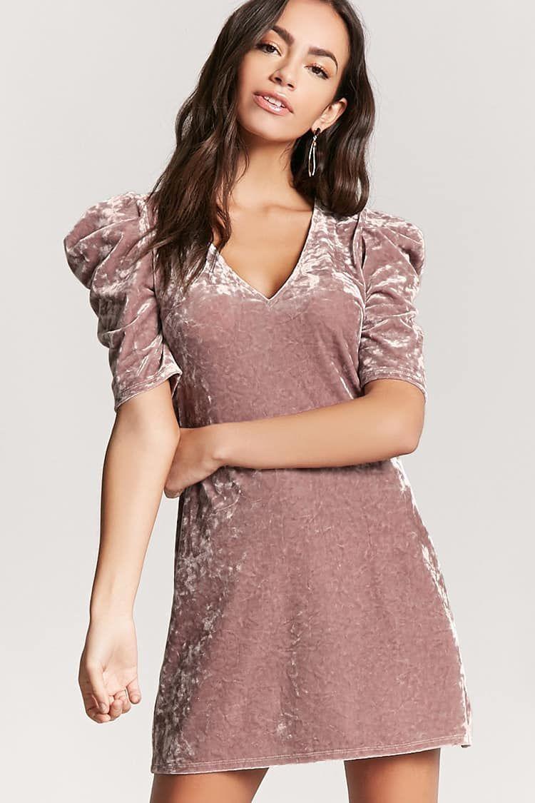 25b2e5c0f Vestido Corto De Terciopelo - Mujer - 2000114412 - Forever 21 EU Español