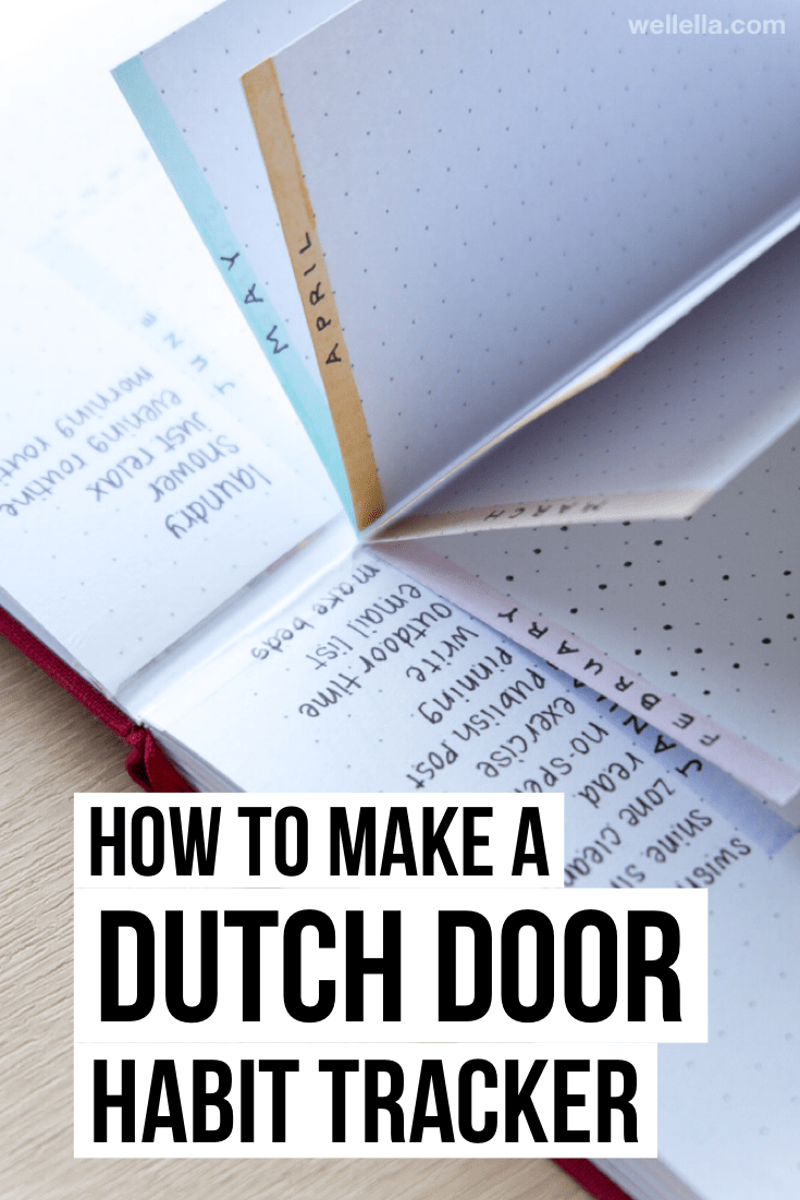 bullet journal dutch door habit tracker - how to make a tracker for habits in your bujo that you can use for months straight using the Dutch door tech...