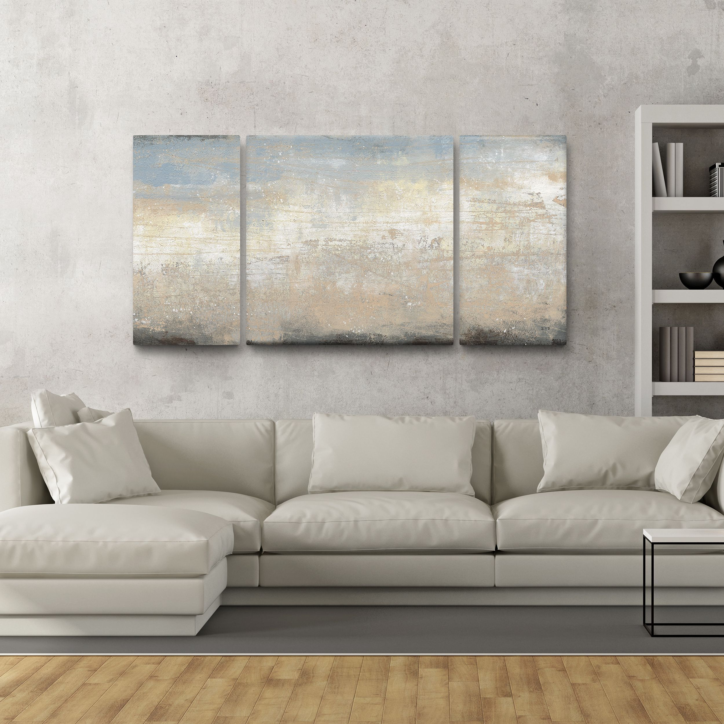 studio 212 tidal rush canvas 30 inch x 60 inch triptych on best wall color for artwork id=40334
