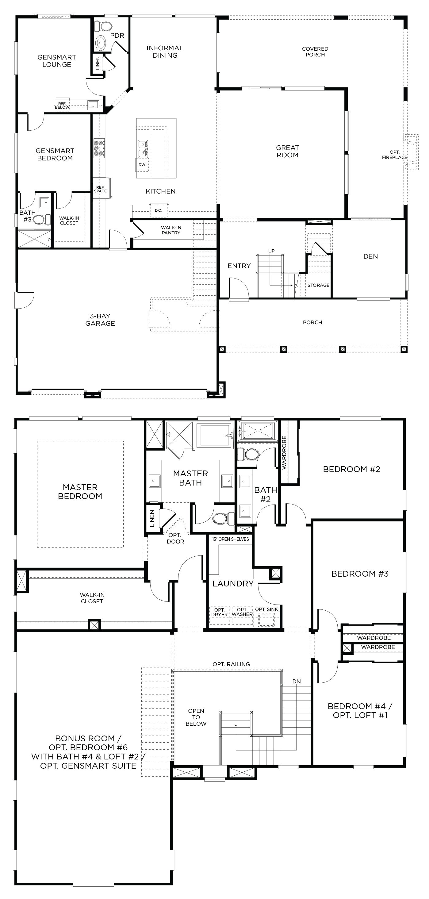 Tandem Garage House Plans Flagstone Plan 3br Inland Empire Pardee Homes Large House