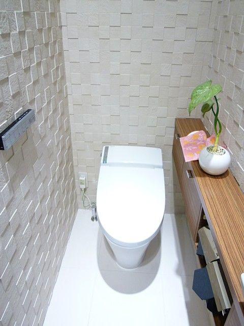 施工例トイレエコカラットの壁紙 トイレ 壁紙 風水 トイレ