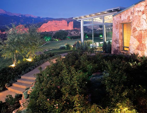 Exterior of the Garden of the Gods Club, Colorado Springs ...