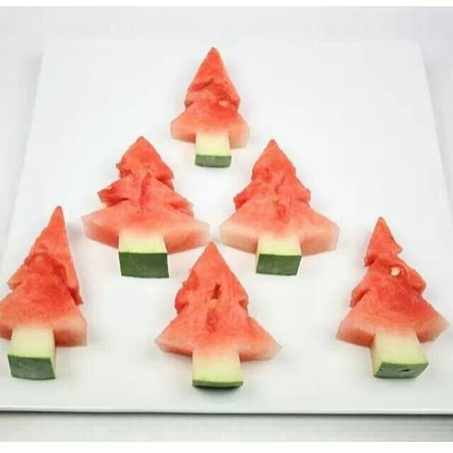 Christmas Party Fruit Ideas Part - 15: Perfect For A Summer Christmas In NZ! Healthy Fun Food For Kids.and For All  Holidays Throughout The Year, Just Use Different Shapes Of Cookie Cutters!