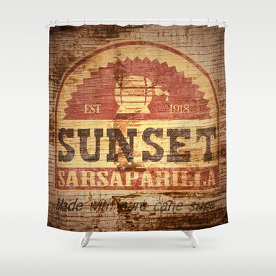 Sunset Sarsaparilla Fallout Shower Curtain By KeenaKorn