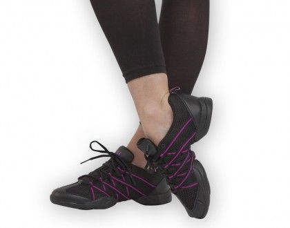 fbfcd94c7da Ref: SO524LBLK-PUR Bloch's crisscross dance sneaker. Ultra light split sole  design with