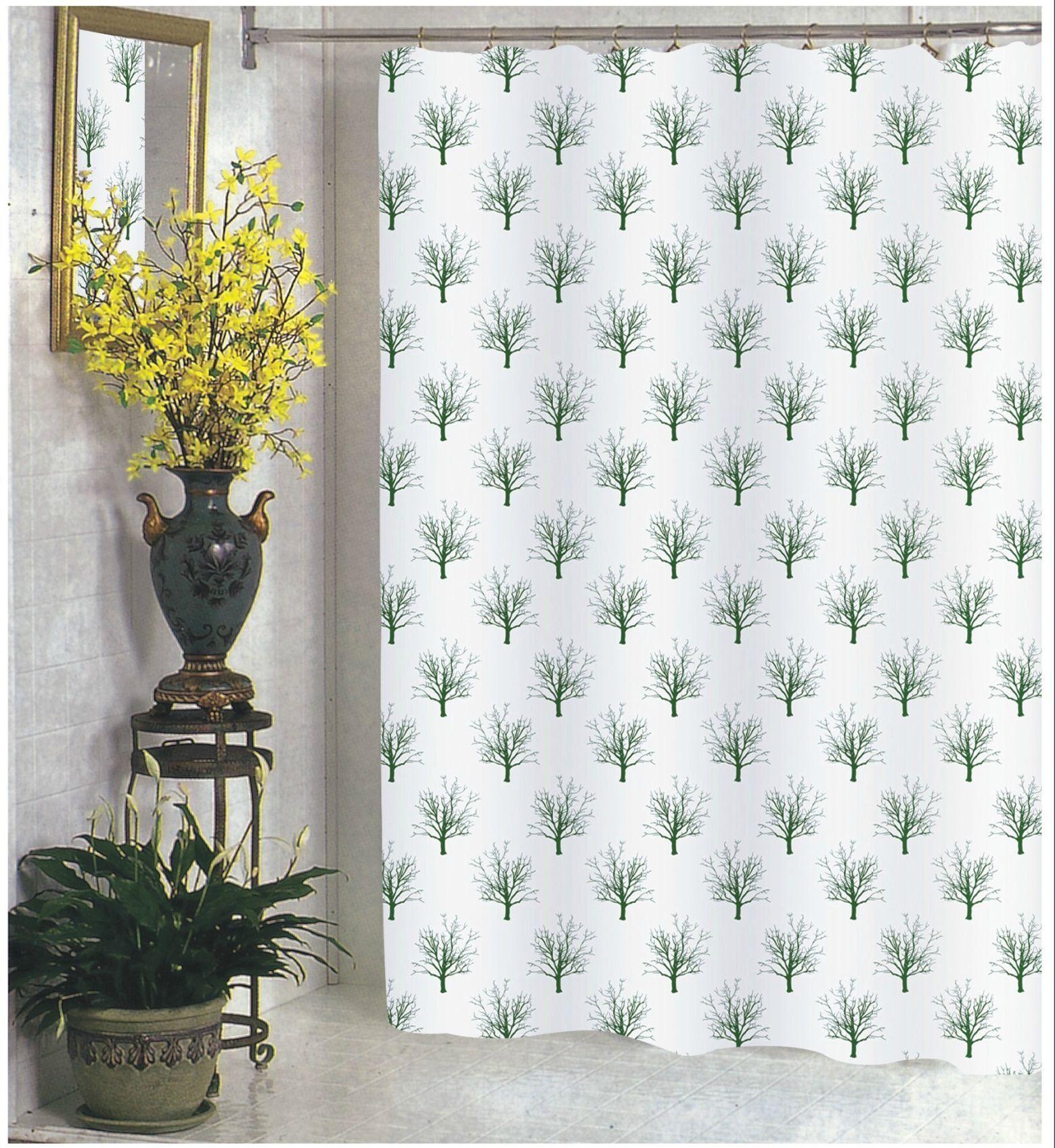 BenandJonah Collection Fabric Extra Long Shower Curtain 70 X 84 Autumn Tree