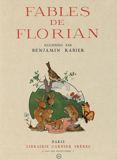 Fables de Florian - illustration by Benjamin Rabier, 1936 (title page)