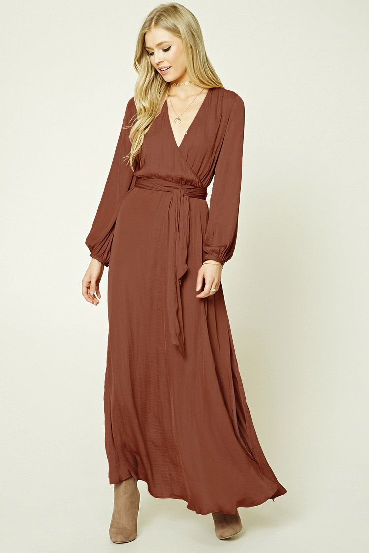 797fc62f26 Belted Surplice Maxi Dress | Forever 21 - 2000210992 | Sunday in ...