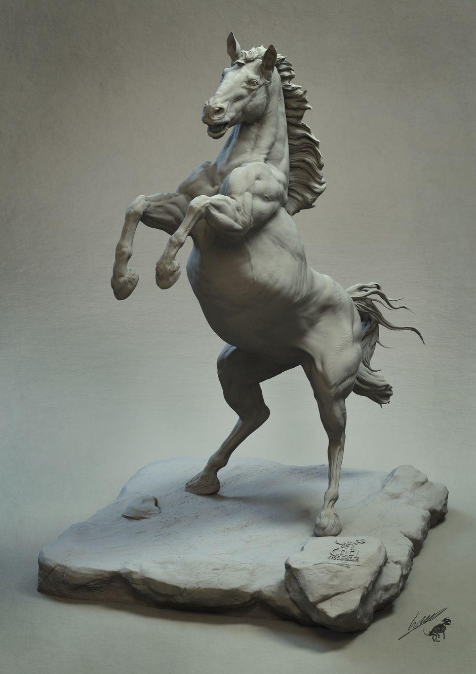 CGTalk - Horse anatomy study, gael kerchenbaum (3D)