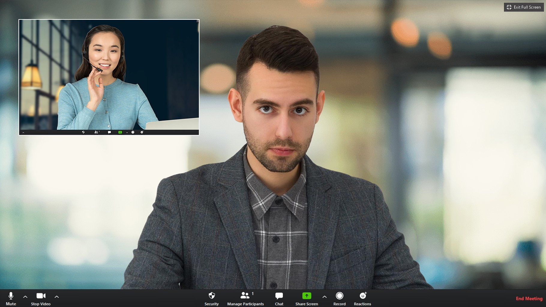 Ad blurred virtual bg for zoom meeting by zp design on