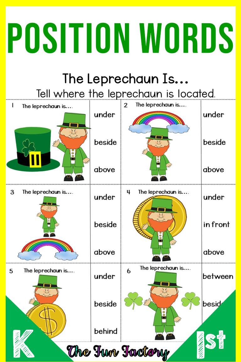 Position Words Activities And Worksheets Position Words Preschool And Kinde Kindergarten Worksheets Positional Words Activities Positional Words Kindergarten [ 1152 x 768 Pixel ]