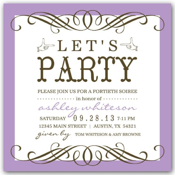 50th birthday party invitations wording | new invitations, Birthday invitations