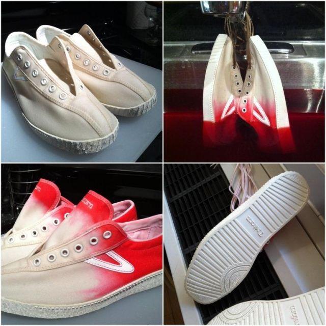 Красим кеды (фото мастер-класс) | Красить обувь, Мода ...