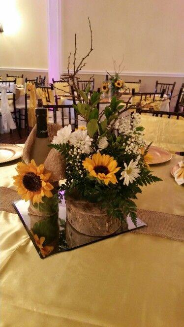 Centerpieces sunflowers charra quince pinterest