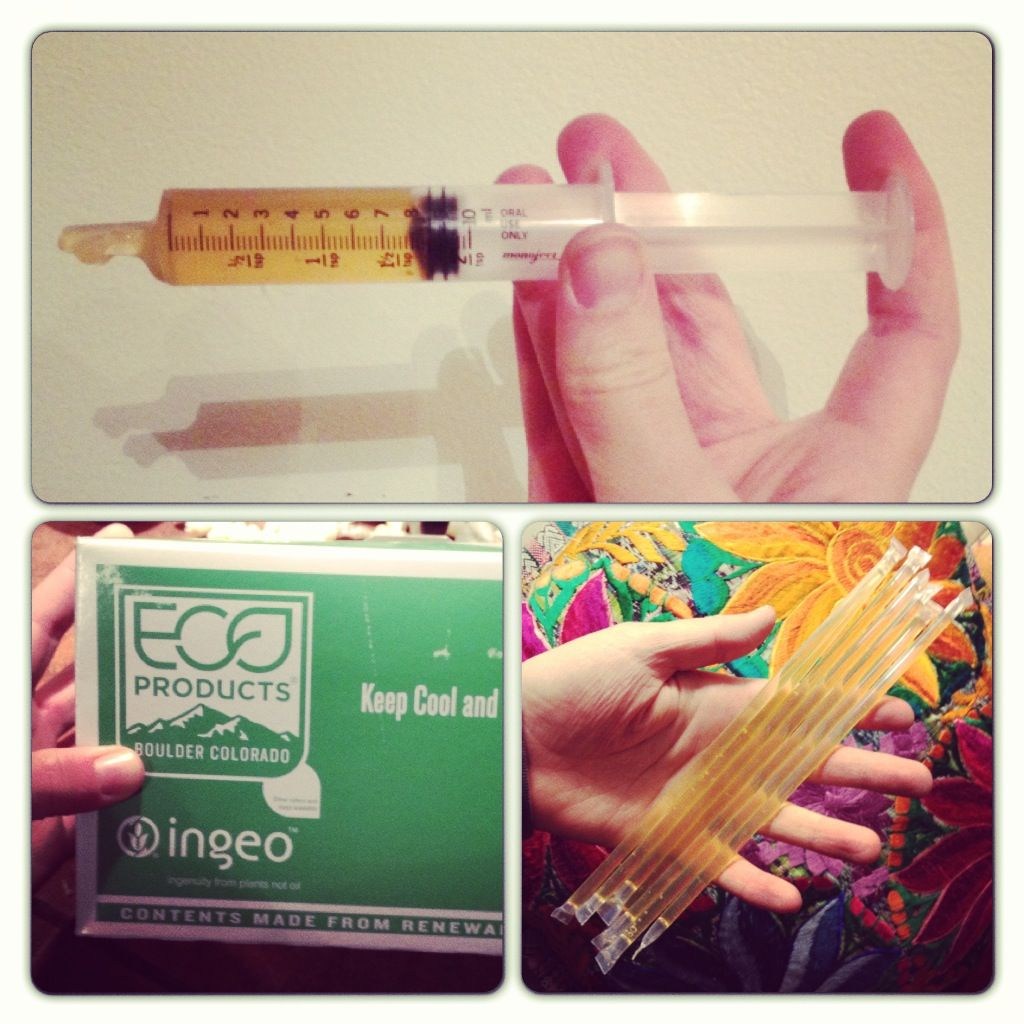 DIY honey sticks from compostable straws  I used an iron to