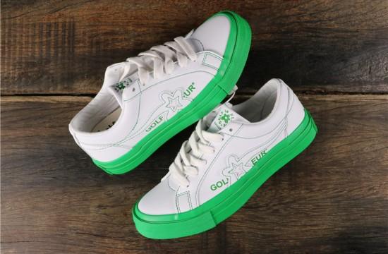Converse Golf Le Fleur Colorblock One Star Low Top White Kelly Green 164025c Golf Le Fleur Shoes Golf Le Fleur Nike Fashion Shoes