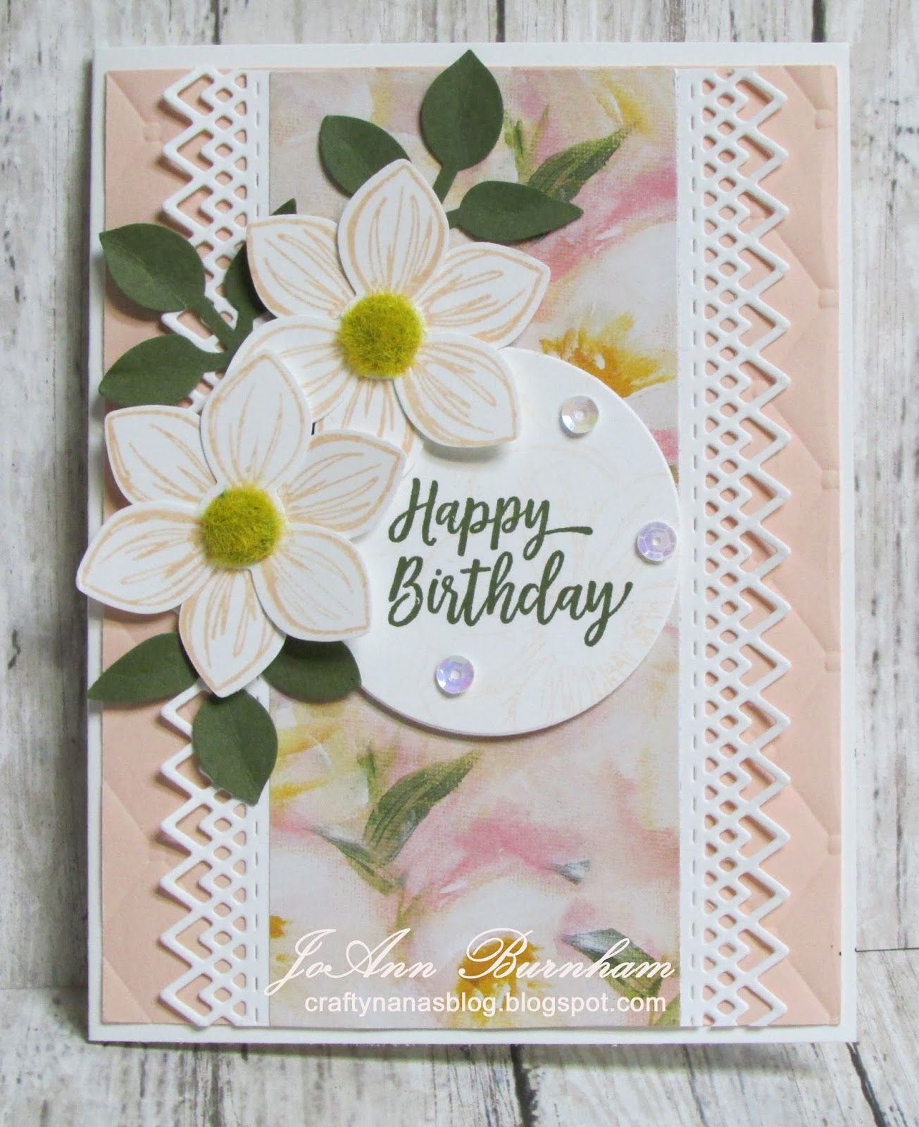 Crafty Nana S Blog Happy Birthday With Floral Essence