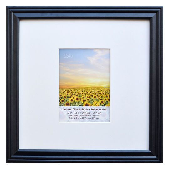 Studio Decor Black Square Frame With Mat Lifestyles By Studio Décor