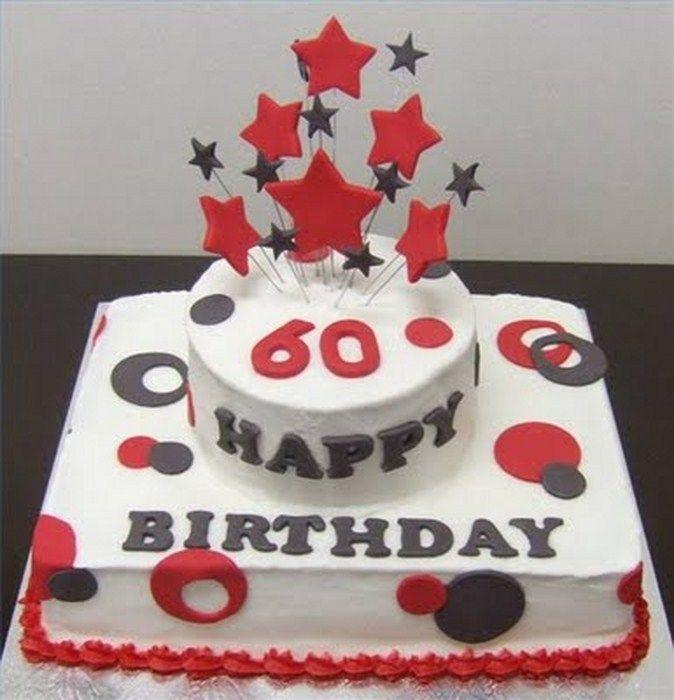 Happy Birhtday Cake For Old Women And Men Birthday 60th Idea Ucakedecoridea Designs Inspiration