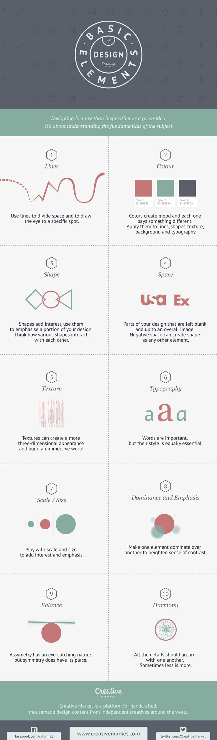 Any good craft needs a toolbox. If you're a designer, your toolbox is style, which unfortunately you can't put into organized drawers. This graphic, however, lays out your basic tools as a designer.: