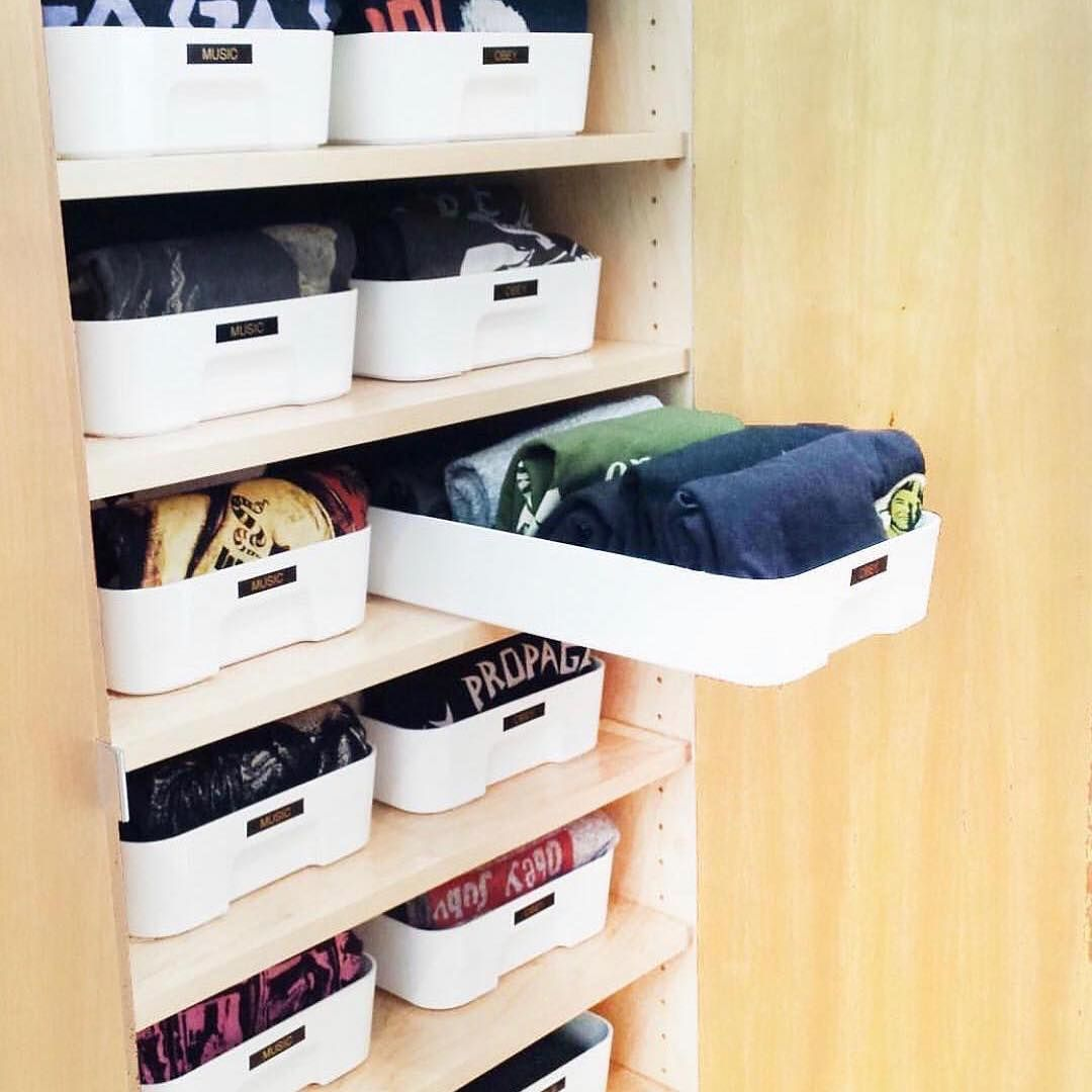 Honey Dew Gifts On Instagram What Do You Get When You Combine Mariekondo With Ikea Storage Closet Clothes Storage Storage Closet Organization Ikea Storage