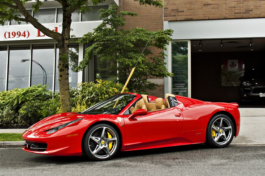 red Ferrari 458 convertible Spider - Google Search ...  Ferrari 458 Spider Red