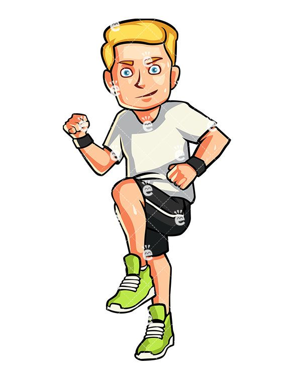 Man Running In Place Cartoon Vector Clipart Friendlystock Man Running Cartoons Vector Running
